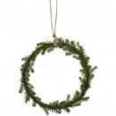 Fir ring Juniper to hang, D20cm, green